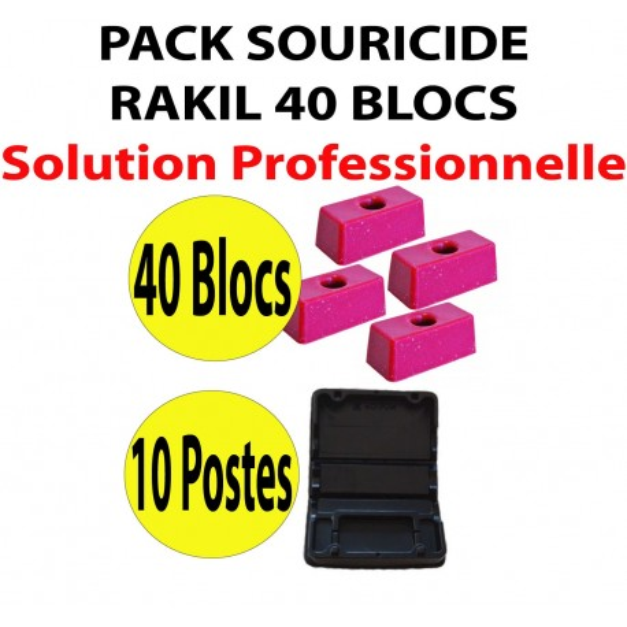 Pack Souricide RAKIL 40 blocs