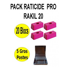 Pack Raticide Rakil 20