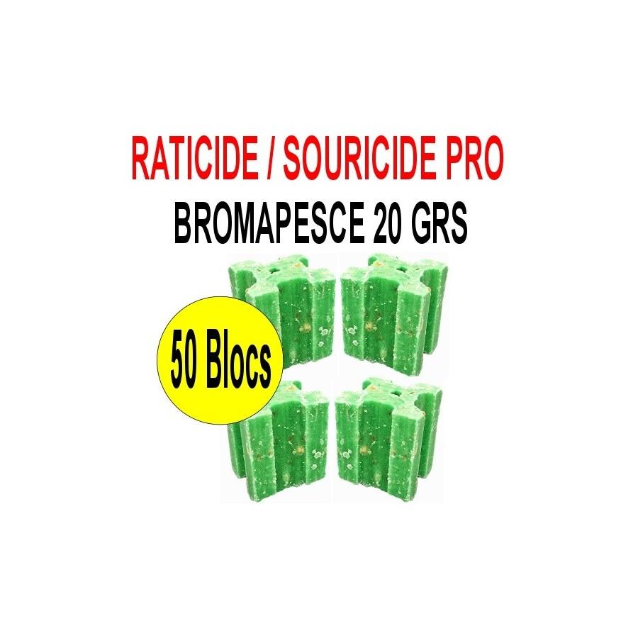 Souricide Bromapesce 50 blocs de 20 grs