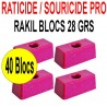 Souricide/Raticide RAKIL 40 blocs de 28grs