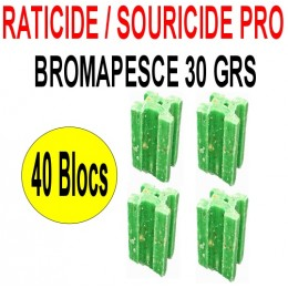 Souricide/Raticide 1.2 Kg en 40 blocs de 30 grs