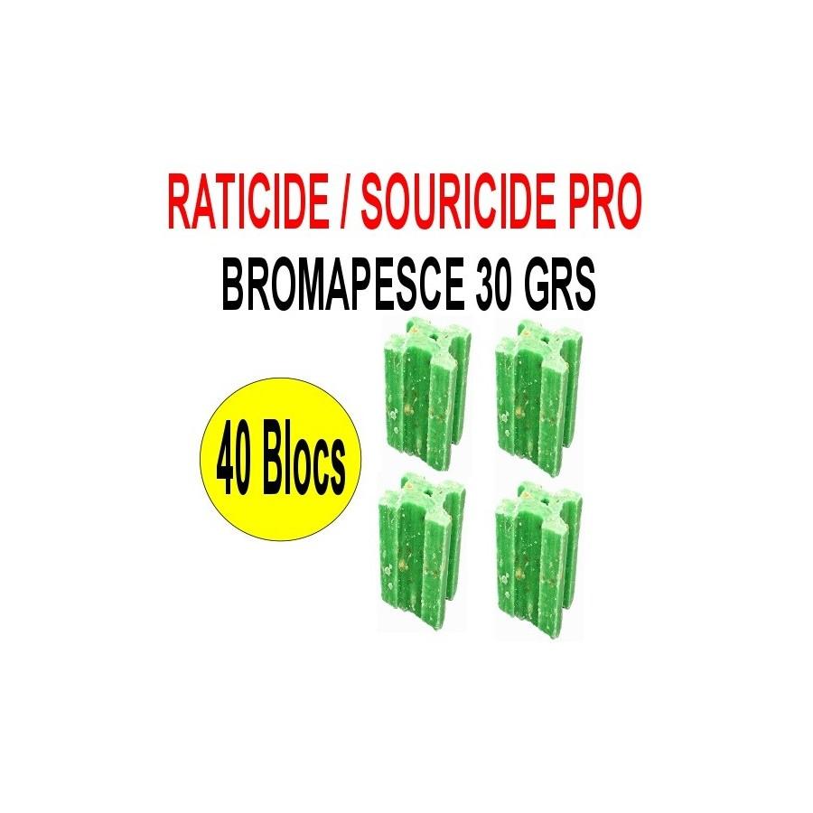 Raticide Bromapesce 40 blocs de 30 grs