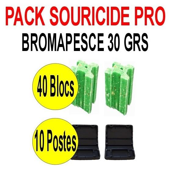 Pack souricide Bromapesce 40 blocs de 30 grs