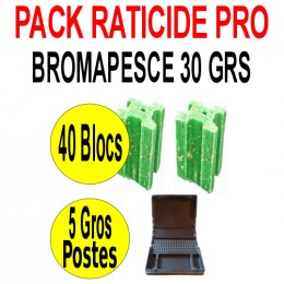 Pack Raticide Bromapesce 40 blocs de 30 grs