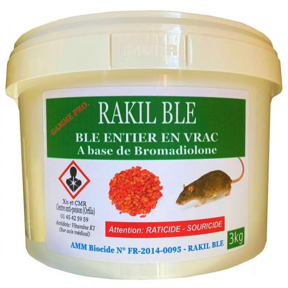 RATICIDE RAKIL BLE - SEAU DE 3 KG
